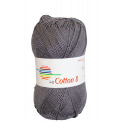 Cotton 8. farve 1003, antracit garn g-b cotton 8