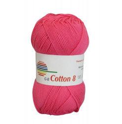Cotton 8. farve 1330, pink garn g-b cotton 8