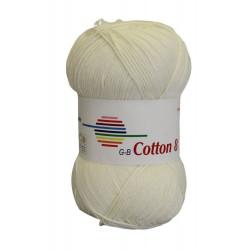 Cotton 8. farve 1440, råhvid garn g-b cotton 8