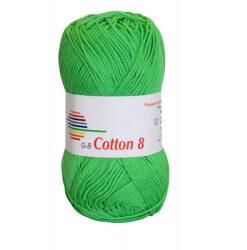 Cotton 8. farve 1449, klar grøn garn g-b cotton 8