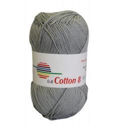 Cotton 8. farve 1450, lys grå garn g-b cotton 8