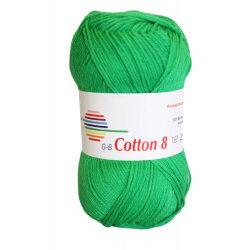 Cotton 8. farve 1451, grøn garn g-b cotton 8
