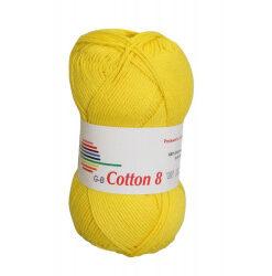Cotton 8. farve 1470, gul garn g-b cotton 8