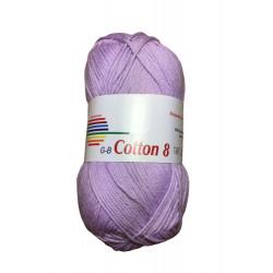 Cotton 8. farve 1480, lys syren garn g-b cotton 8