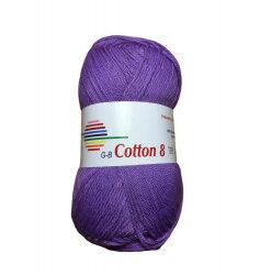 Cotton 8. farve 1510, lilla garn g-b cotton 8
