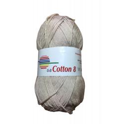 Cotton 8. farve 1530, beige garn g-b cotton 8