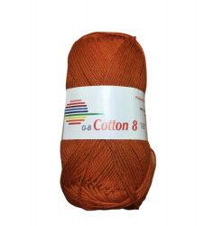 Cotton 8. farve 1540, rust garn g-b cotton 8