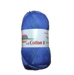 Cotton 8. farve 1650, jeansblå garn g-b cotton 8