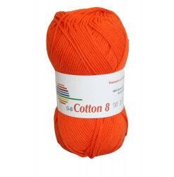 Cotton 8. farve 1710, orange garn g-b cotton 8
