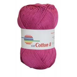Cotton 8. farve 1770, magenta garn g-b cotton 8