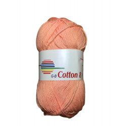Cotton 8. farve 1815, laks garn g-b cotton 8