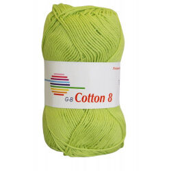 Cotton 8. farve 1840, lemon garn g-b cotton 8