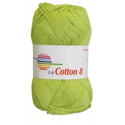 Cotton 8. farve 1840, lemon garn g-b cotton 8