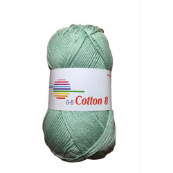 Cotton 8. farve 1850, mint garn g-b cotton 8