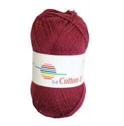Cotton 8. farve 1860, bordeaux garn g-b cotton 8