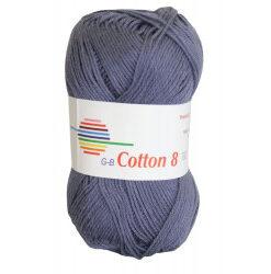 Cotton 8. farve 1870, gråblå garn g-b cotton 8