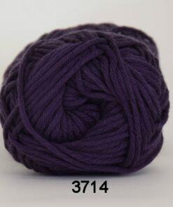 Cotton 8/8 fv 3714 Mørk Lilla