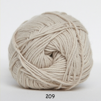 Cotton nr. 8- Bomuldsgarn - Hæklegarn - 209 Lys Beige