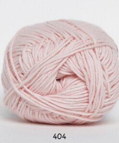 Cotton nr. 8- Bomuldsgarn - Hæklegarn - fv 404 Sart Lyserød