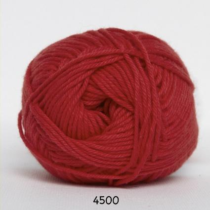 Cotton nr. 8- Bomuldsgarn - Hæklegarn - fv 4500 Rød