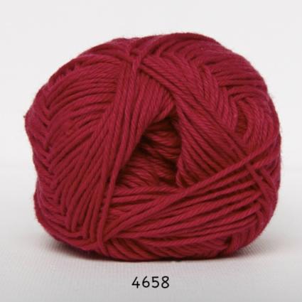 Cotton nr. 8 - Bomuldsgarn - Hæklegarn - fv 4658 Mørk Pink
