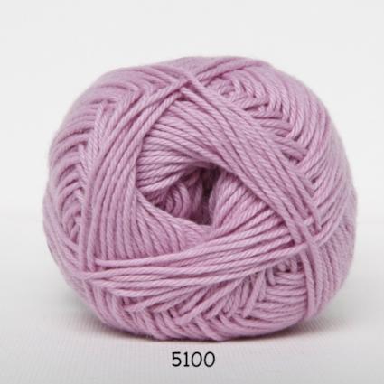 Cotton nr. 8 - Bomuldsgarn - Hæklegarn - fv 5100 Lyserød