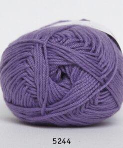 Cotton nr. 8 - Bomuldsgarn - Hæklegarn - fv 5244 Mørk Lavendel