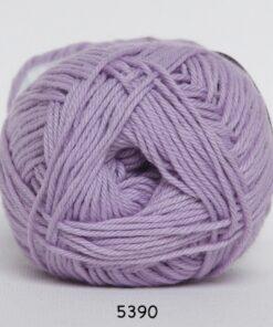 Cotton nr. 8- Bomuldsgarn - Hæklegarn - fv 5390 Lys Lilla