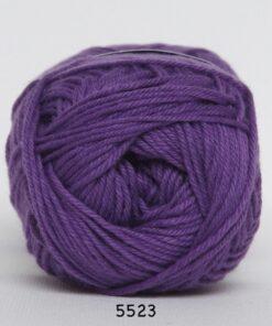 Cotton nr. 8- Bomuldsgarn - Hæklegarn - fv 5523 Mørk Lilla