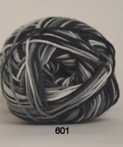 Cotton nr. 8- Bomuldsgarn - Hæklegarn - fv 601 Flerfarvet