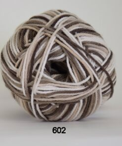 Cotton nr. 8- Bomuldsgarn - Hæklegarn - fv 602 Flerfarvet