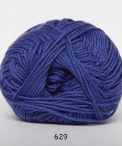 Cotton nr. 8 - Bomuldsgarn - Hæklegarn - fv 629 Lilla
