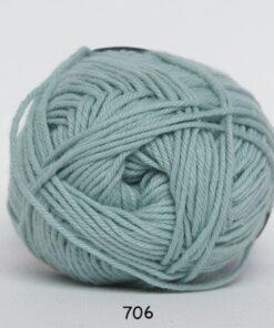 Cotton nr. 8 - Bomuldsgarn - Hæklegarn - fv 706 Due Blå