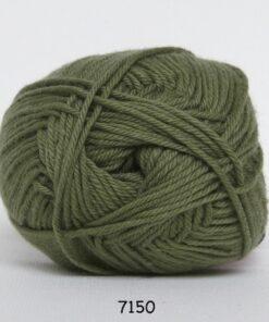 Cotton nr. 8- Bomuldsgarn - Hæklegarn - fv 7150 Jagt Grøn