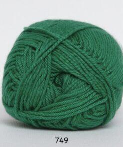 Cotton nr. 8 - Bomuldsgarn - Hæklegarn - fv 749 Græs Grøn