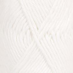 Drops paris uni 16 hvid bomuldsgarn