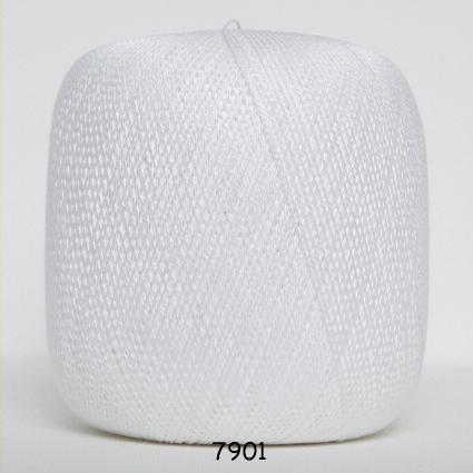 Hjerte nr 8 100% merceriseret bomuld fv 7901 Hvid