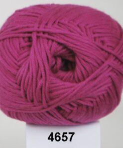 Hjertegarn Alicante - Blød Bomuldsgarn - fv 4657 Mørk Pink