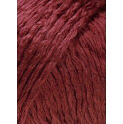 Lang yarns amira farve 63, mørk rød bomuldsgarn
