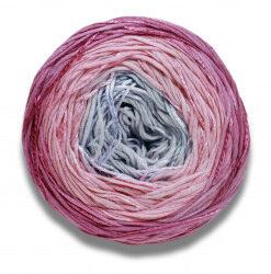 Lang yarns bloom farve 09, rose/syren bomuldsgarn