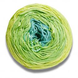 Lang yarns bloom farve 44, lime/jade bomuldsgarn