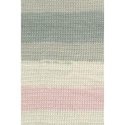Lang yarns sol dégradé. farve 109, rosa/ecru/grøn bomuldsgarn