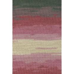 Lang yarns sol dégradé. farve 62, mørk rød/antracit bomuldsgarn