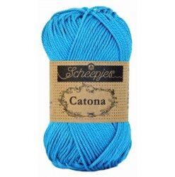 Scheepjes catona 25g, farve 146 vivid blue garn