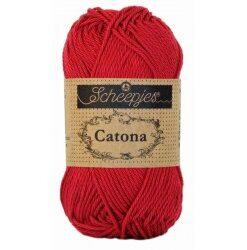 Scheepjes catona 25g, farve 192 scarlet garn