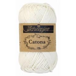Scheepjes catona 50g, farve 105 bridal white garn