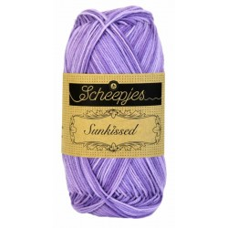 Scheepjes sunkissed 50g, farve 10 lavender ice bomuldsgarn
