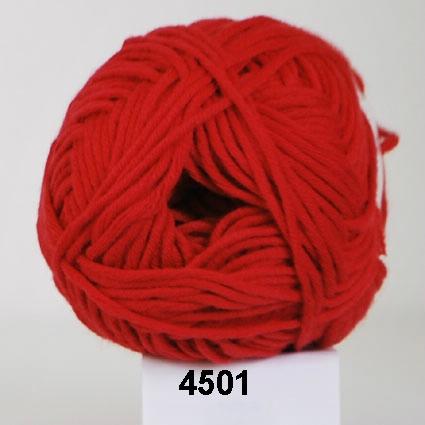 Valencia - Bomuldsgarn - fv 4501 Rød
