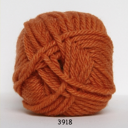 Hjertegarn Thule Uldgarn/Akrylgarn - 3918 Orange