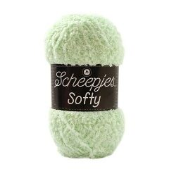 Scheepjes softy lys mint, 492 akrylgarn